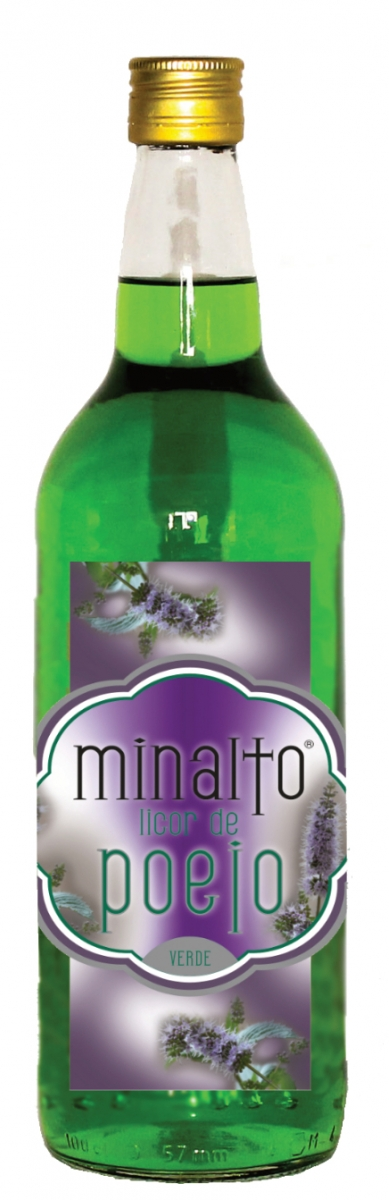 Licor de Poejo Minalto Verde 1l 18% vol